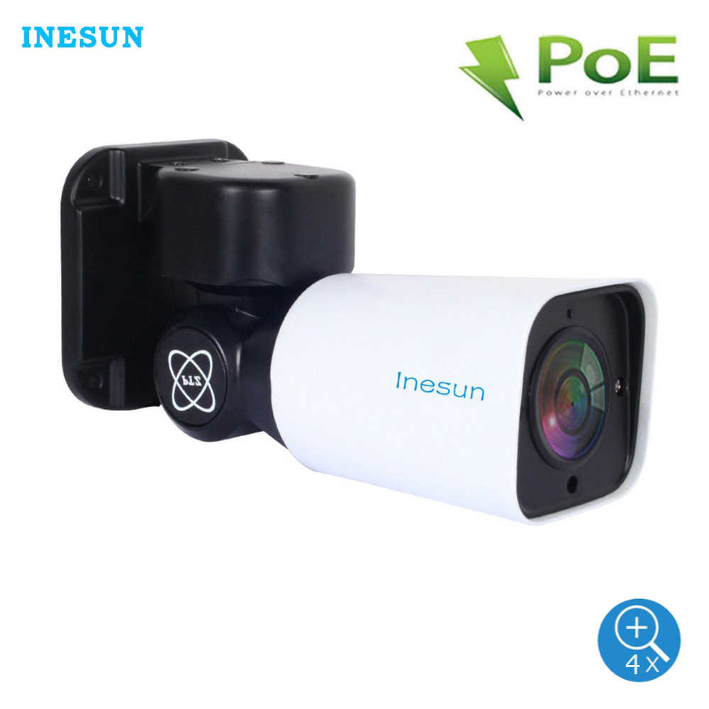 Inesun PoE IP Security Camera Outdoor Full HD 2MP 1080 P PTZ 4X Optische Zoom 120ft IR Nachtzicht Motion detectie Waterdicht