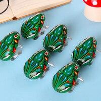 6363 Frong coh 58310 Sapo Wind up toy para o miúdo de Ferro salto brinquedo educativo presente de Natal para crianças 35 cm