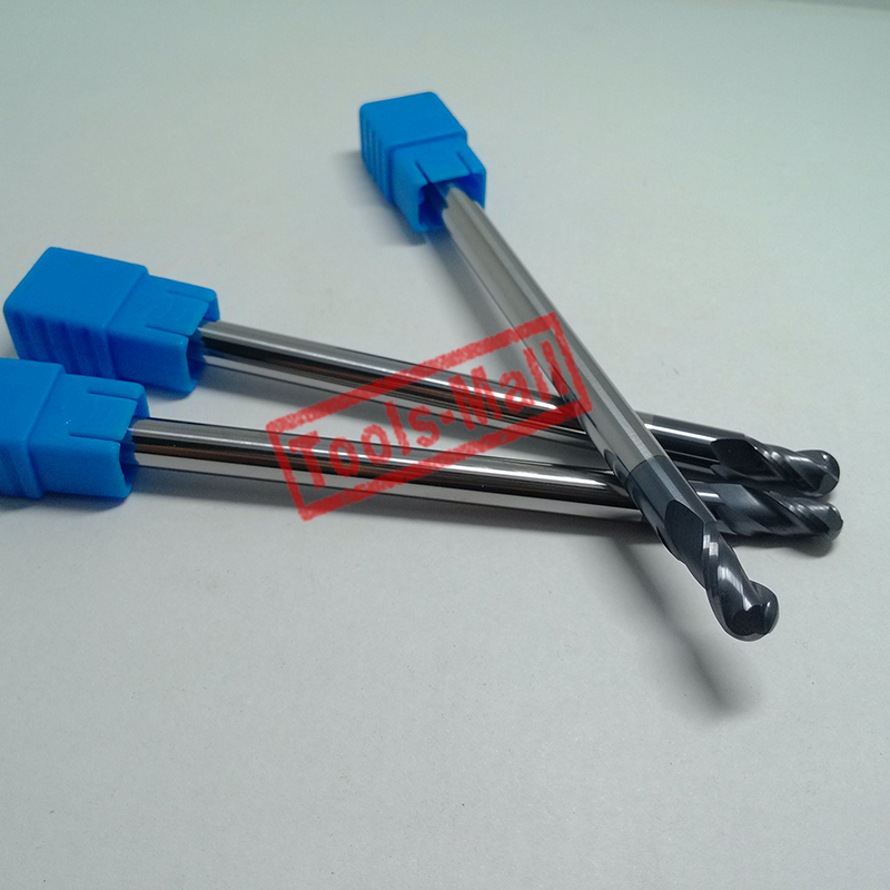 1pc radius=3mm 2 Flutes hrc45 R3*30*D6*150 solid carbide Ball nose End Mill CNC router bits tools Milling cutter 2pcs radius 6mm hrc60 r6 25 d12 75 2 flutes ball nose end mill spiral bit milling tools cnc cutter router bits