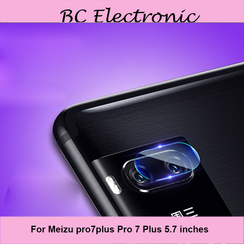 3pcs For Mei zu pro7 plus pro 7 plus Glass Camera Screen Protector Transparent Back Camera Lens 5.7'' Protective Film Sticker