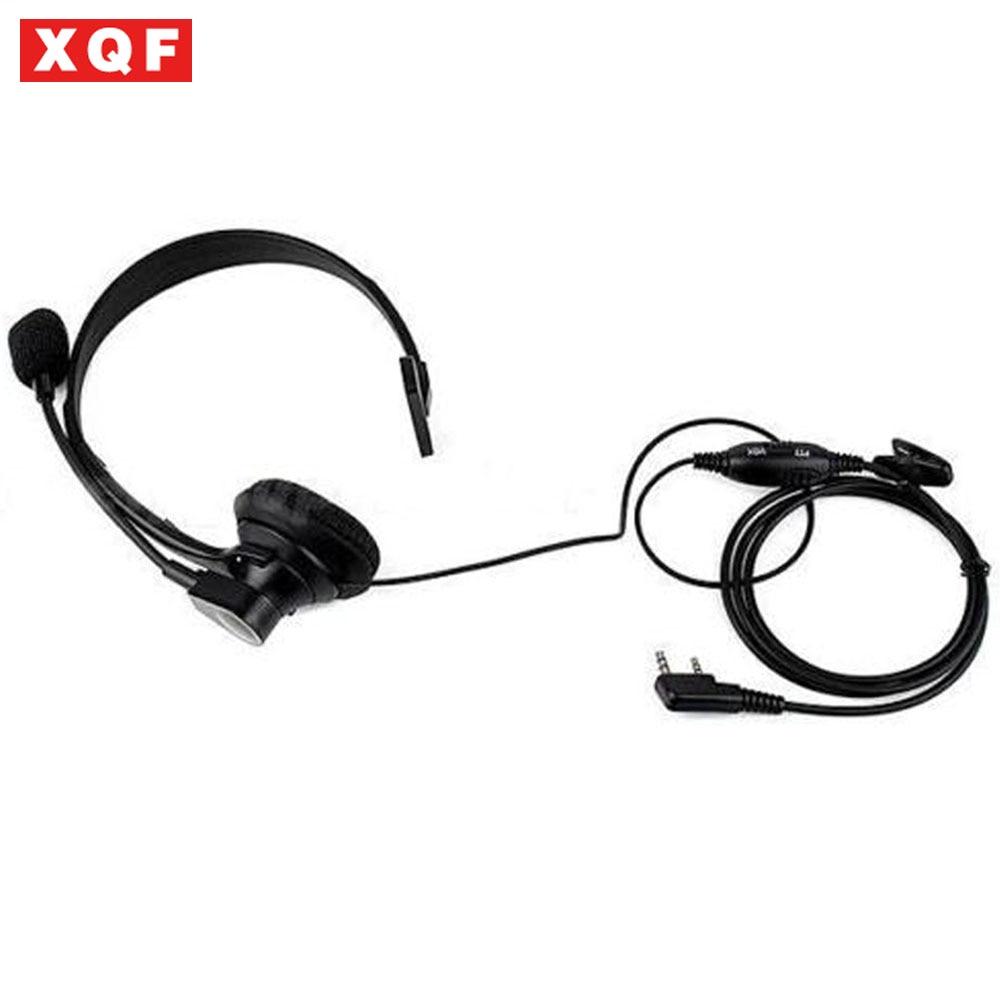 XQF 2PIN VOX PTT Mic Headset For BAOFENG UV-5R PUXING KENWOOD WOUXUN Walkie Talkie
