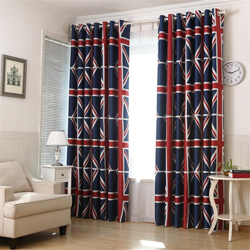 britnico impresin sombreada terraza cortinas simples nios dormitorio cortinas modernas cortinas de la sala alta dibujos