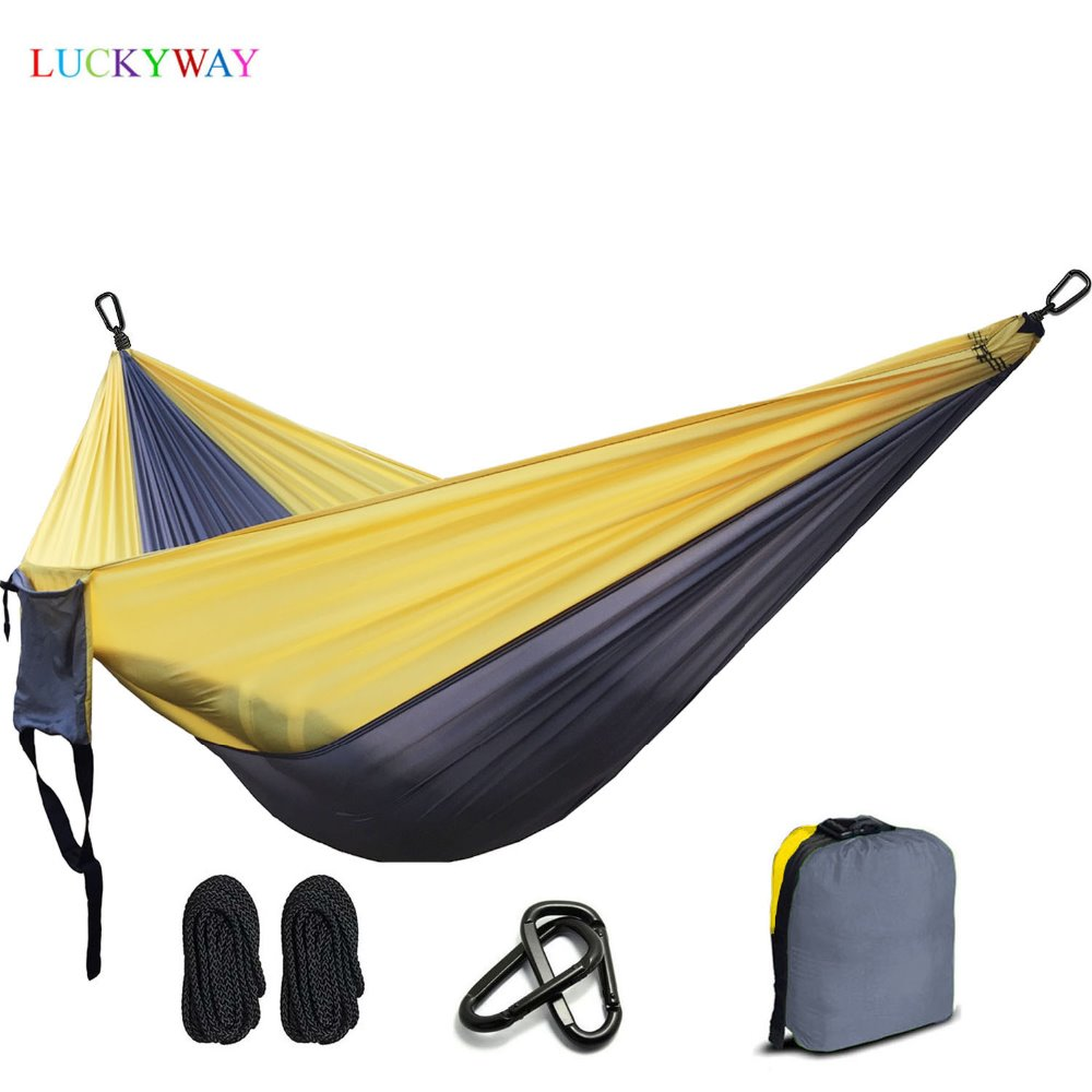 2 People Hammock 2019 Camping Survival Garden Hunting Leisure Travel Double Person Portable Parachute Hammocks FREE SHIPPING