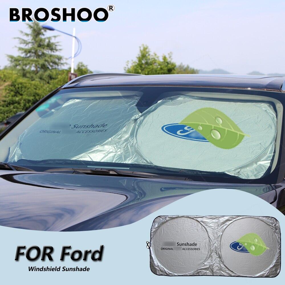 BROSHOO Car Windscreen Sunshade Front Window Sun Shade Windshield Visor Cover For Ford For Focus/Fiesta/Kuga/Galaxy/B-MAX/Edge