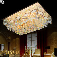Factory direct rectangular living room lamp modern crystal lamp bedroom lamp restaurant lights LED Ceiling Lights Rmy 068
