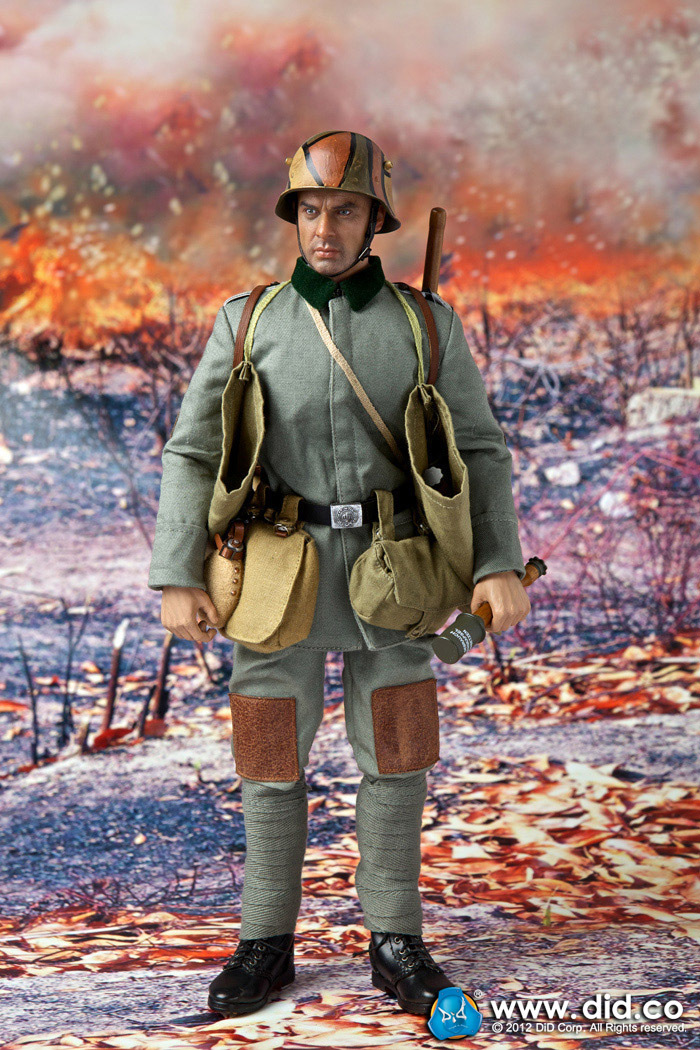 1/6 scale Military figure  WWI 6th Infantry Assault Battalion 1917-1918 Lutz Fedder 12 action doll Collectible Model