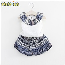Menoea-2017-Brand-New-Girls-Fashion-Clothing-Sets-Girls-Clothes-Kids-Clothing-Sets-Sleeveless-Whirte-T