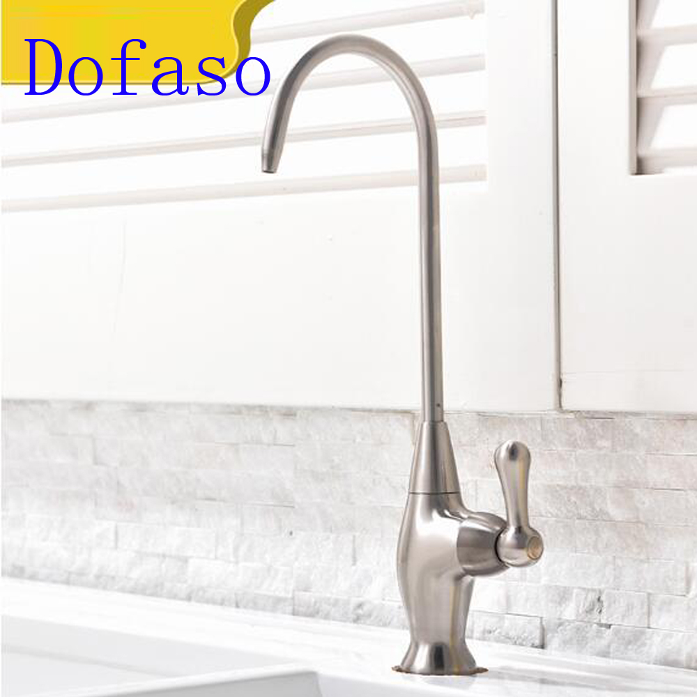 Dofaso Water purifier for kitchen faucet drinking water purifying tap basin copper lead free single cold water faucet in Kitchen Faucets from Home Improvement