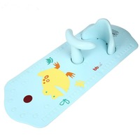 1Pc Baby Safety Bath Seat Extra LongNon Slip Bath Mat With Heat Sensitive Blue Frog