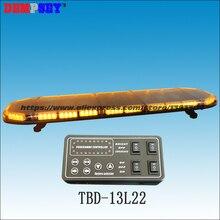 TBD-13L22 LED amber warning lightbar 49″, engineering/emergency/police lightbars,DC12V/24V Car Roof Flash Strobe lightbar