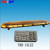 TBD 13L22 LED amber warning lightbar 49, engineering/emergency/police lightbars,DC12V/24V Car Roof Flash Strobe lightbar