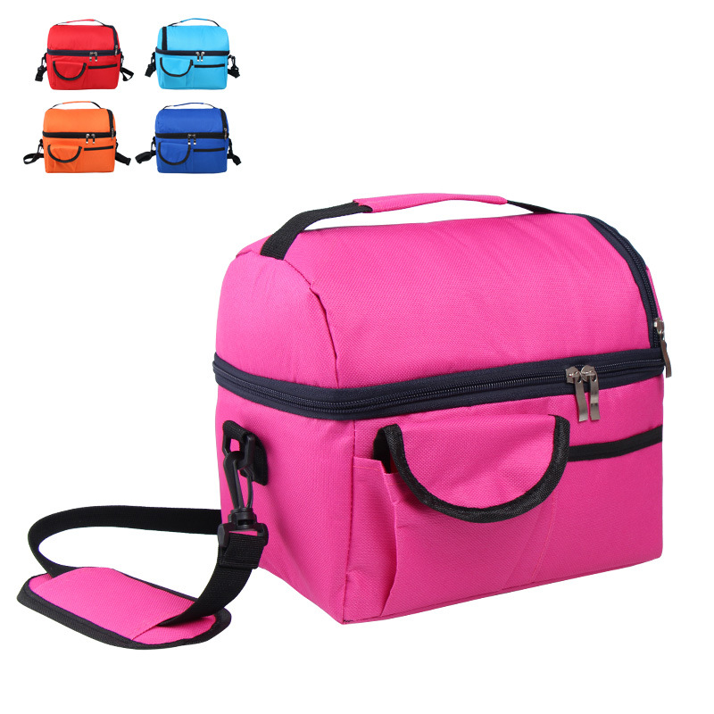 camping picnic bag Lunch bag meal basket portable insulation package double layer fresh keeping bag beer fridge portable coolers-in Picnic Bags from Sports & Entertainment