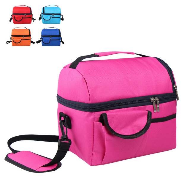 camping picnic bag Lunch bag meal basket portable insulation package double layer fresh-keeping bag beer fridge portable coolers