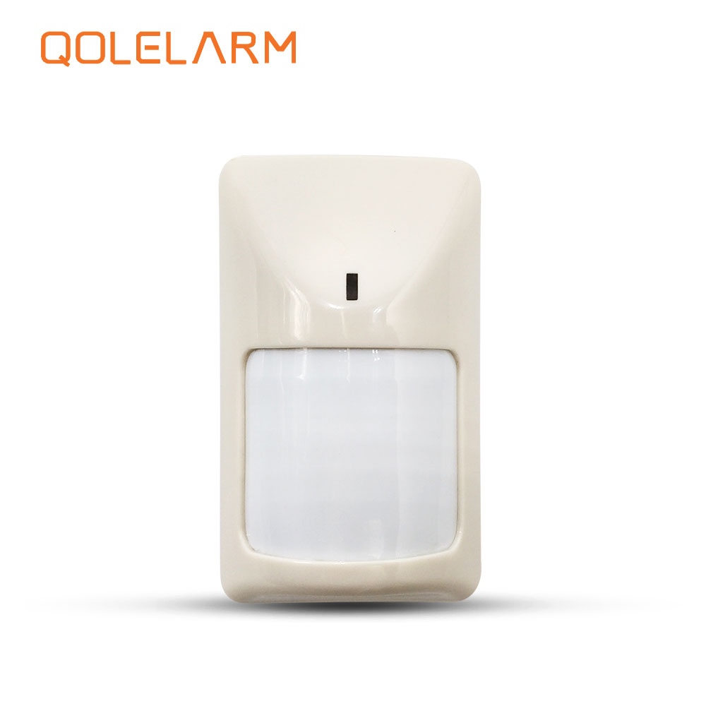 QOLELARM WIRE PIR MOVEMENT INFRARED SENSOR CE CERTIFICATION FOR GSM WIFI GPRS HOME SECURITY BURGLAR ALARM SYSTEM WORK WITH PANEL arduino atmega328p gboard 800 direct factory gsm gprs sim800 quad band development board 7v 23v with gsm gprs bt module