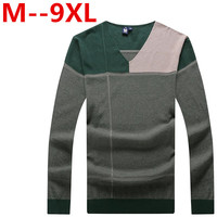 9XL 8XL 7XL 6XL 5XL Pure Cotton Sweaters Men Best Style V Neck Mens Sweaters Jersey