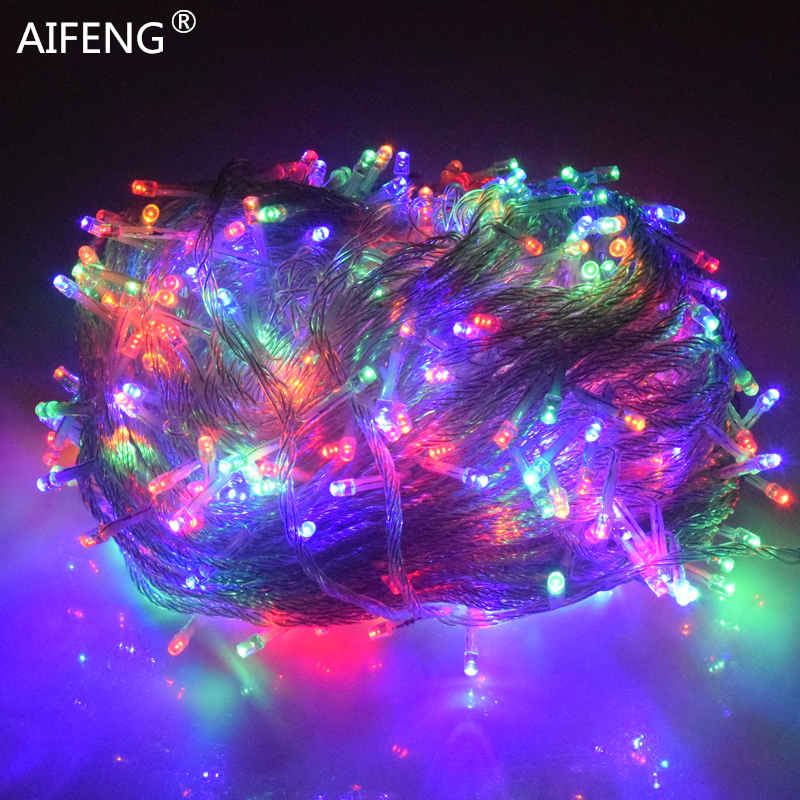 AIFENG holiday Led christmas lights outdoor 100M 50M 30M 20M 10M led string lights decoration for party holiday wedding Garland led string lights 100m 600 led xmas holiday light for holiday festival celebration home wedding party decoration commercial use