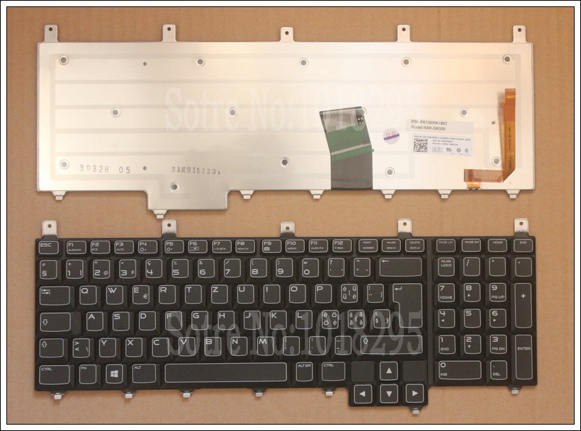 NEW for Dell Alienware M17x-R4 M17X R4 black Backlit Swiss SW keyboard DP/N:0W0M92 NSK-D8G00 PK130MK1B07 genuine new free shipping sata connector for dell alienware m17x r3 r4 hdd molex interposer connector