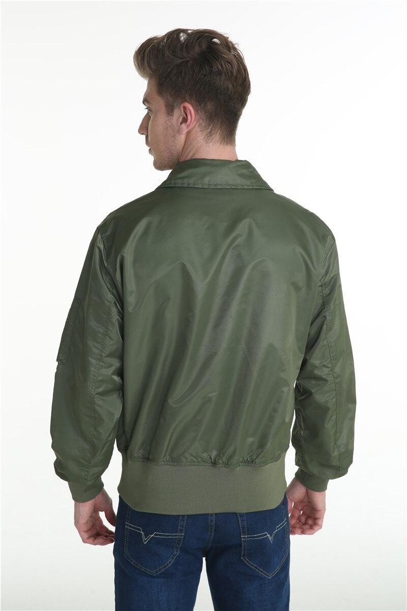 Topdudes.com - Top Men's Classic Bomber Jacket Windbreaker Harajuku Style Outwear
