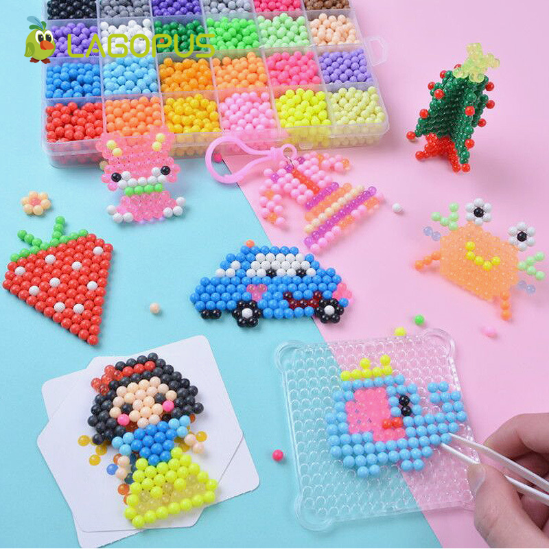Lagopus 24 Colors  DIY Magic Beads Water Spray Hand Making 3D Pearl Beads Puzzle Toys For Children Educational Gift