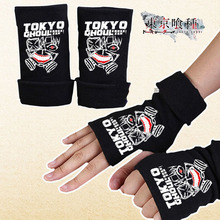 Winter Warm Cotton Print Gloves Anime Tokyo Ghoul Black Couple Glove
