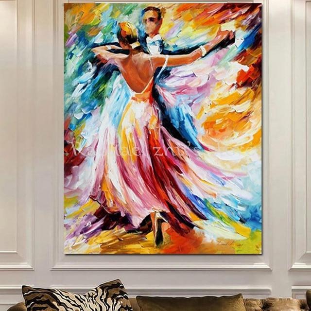 Comprar pintado a mano abstracta moderna - Cuadros de parejas ...