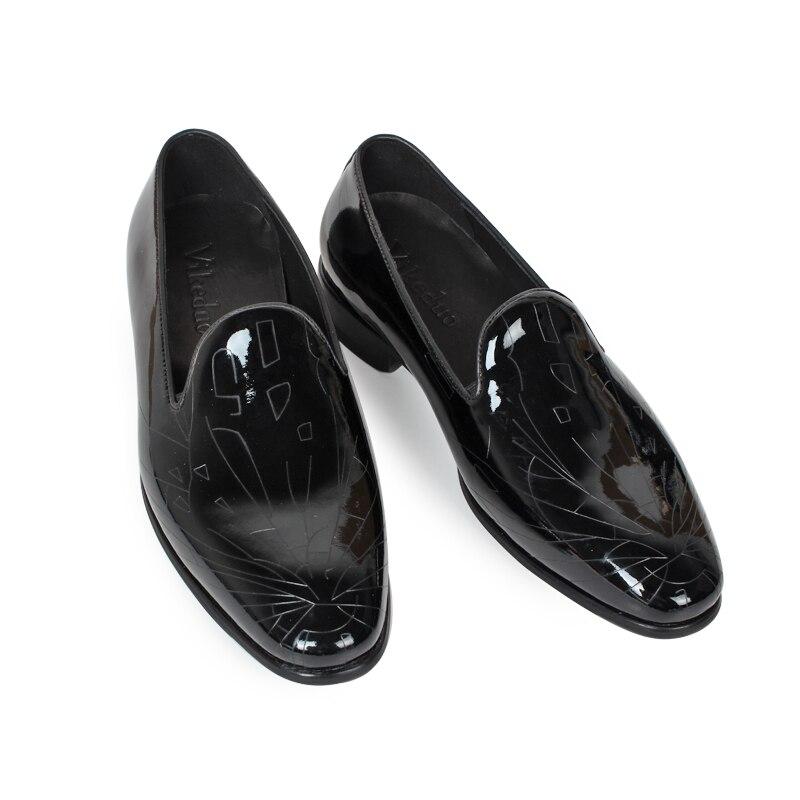 Los A 100 Zapatos Diseño Black 2019 Genuino Lujo Original Mano Vikeduo Cuero Casuales De Moda Clásico Hecho Corriendo Vestido Holgazán Hombres Fiesta tPwvWPq0