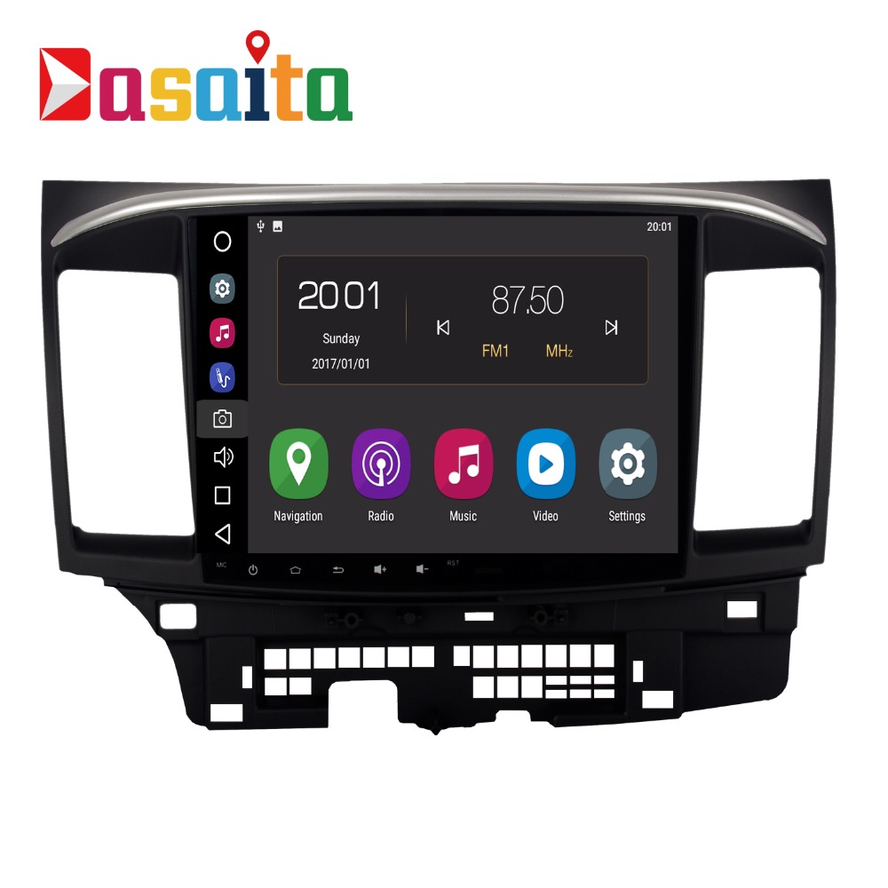 Android 8.0 Autoradio 2 Din Pour Mitsubishi Lancer/X/10 Multimédia Radio 2 Din octa-core 4 Gb RAM 32 GB ROM Navigation PX5