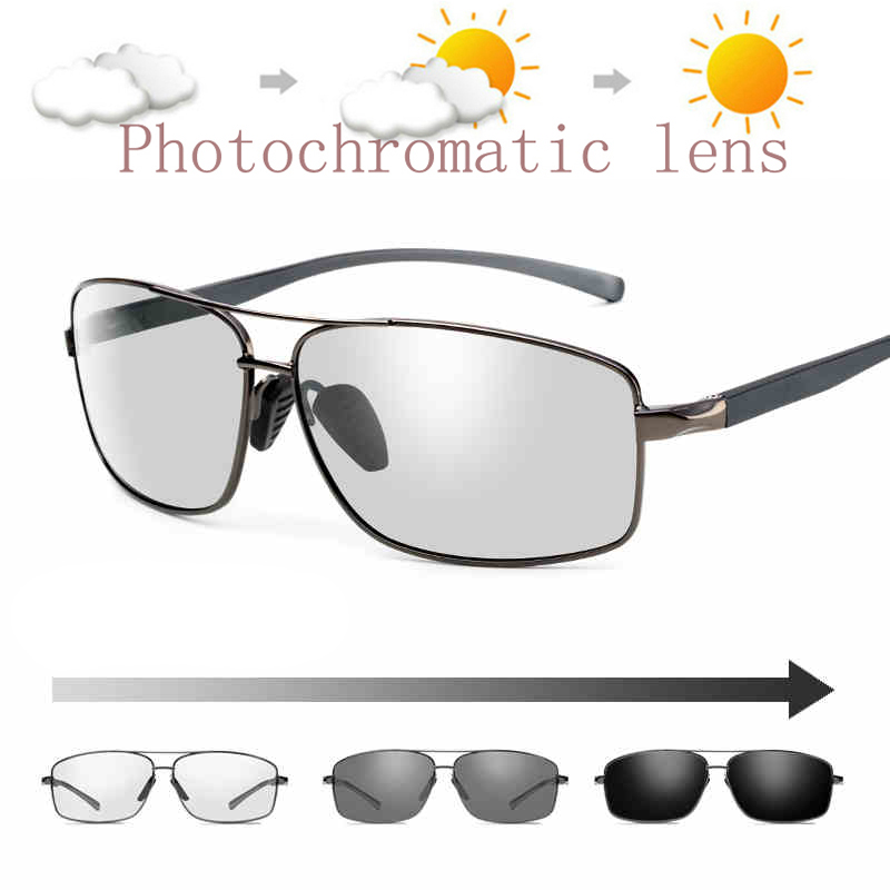 2019 Aluminium Brand Photochromic Sunglasses Mens