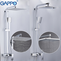GAPPO Bathtub Faucets brass bathroom shower set wall mounted massage shower head bath mixer bathroom shower faucet taps