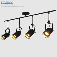 Shop Window Can Turn The Track Lights Shopping Mall Exhibition Background Wall Creative Retro Industrial Wind