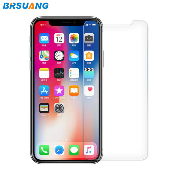 100pcs lot BRSUANG HD 9H Tempered Glass Film Nano Coated Cellphone Screen Protector For iPhone XS