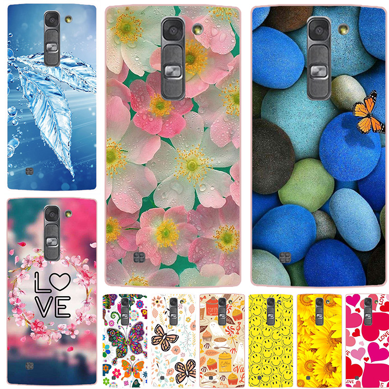 Soft Silicone Case for LG Magna G4mini G4C C90 H502 H502F H520N H525N Cover Flower Original Printed Cat rabbit Wolf Phone Case image