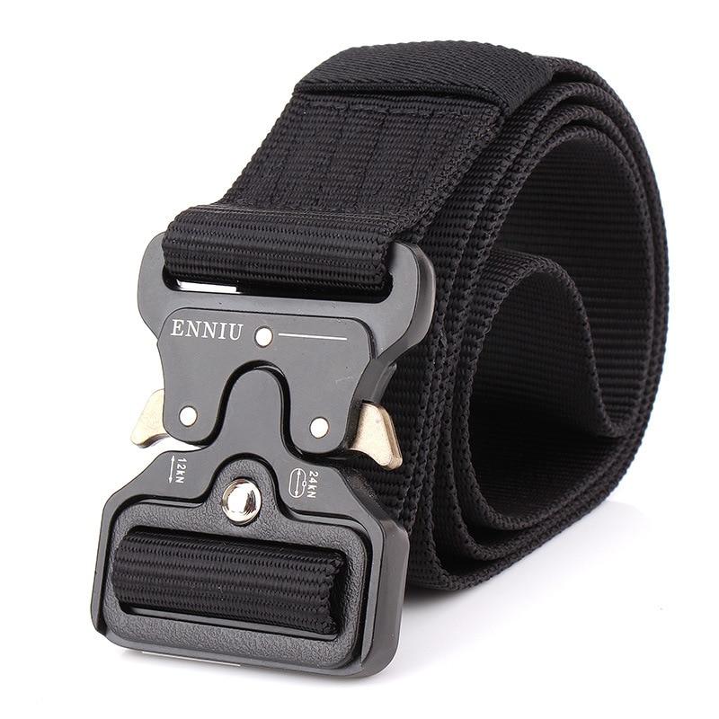 Military Equipment Tactical   Belt   Men Nylon Knock Off Metal Buckle Army   Belt   Strap Heavy Duty Soldier Combat Waist   Belts