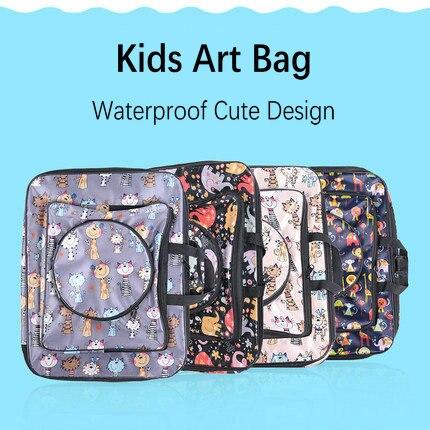 Cartoon Cute 8K Small Art Bag Kids Art Set Drawing Kit Painting Sketch Bag Art School bag For Kids