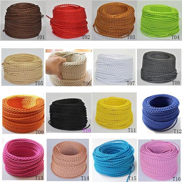 2*0,75 5 Mt/los Vintage Lampenkabel Textil Draht Verdreht Kabel ...