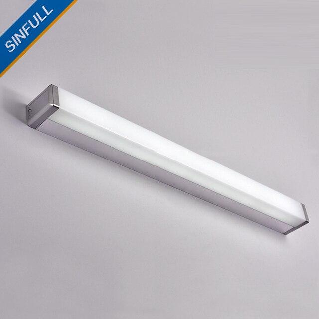 badkamer led spiegel licht moderne wc eenvoudige lange wandlamp led spiegelkast verlichting indoor home ligting sconces