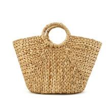 Rattan bag beach straw totes wiker basket bag women large big Jumbo summer bucket bags wove natural handbag 2019 chic fashion цена и фото