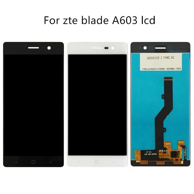 Zte bladeためA603 lcdディスプレイタッチスクリーンデジタイザアセンブリのためのzte blade A603 603 交換電話部品修理キットツール