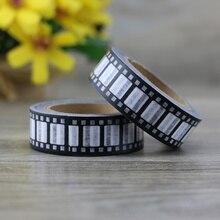 1 roll 1.5CM*10M Black And White Style Stripe Washi Tape Adhesive Tape DIY Scrapbooking Sticker Label Masking Tape