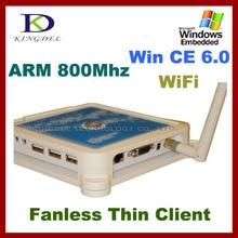 Тонкий клиент PC Share терминал Win7 + Чистая компьютер, поддерживающий сенсорный станции PC + MIC + USB принтер + WiFi Ноль тонкий клиент