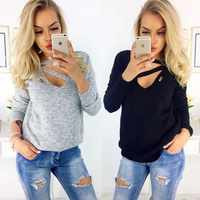 Spring Women Sweaters And Pullovers Autumn Winter Knitted Sweaters Ladies V Neck Long Sleeve Pull Femme Knitted Jumpers Ladies