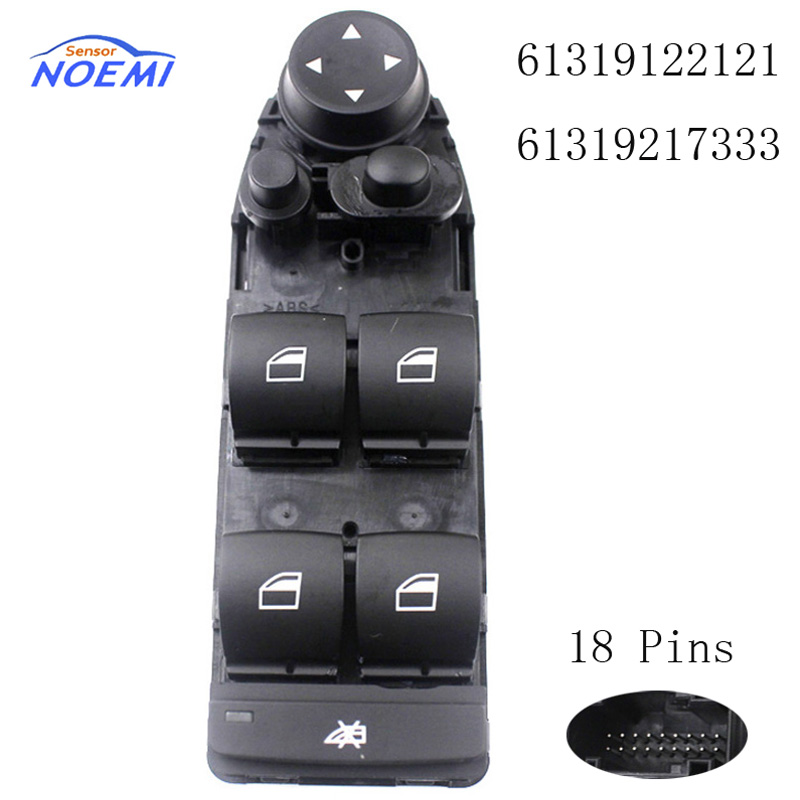 YAOPEI Front Left Door Electric Power Window Switch apply for BMW 61319122121 61319217333 E70 E71 X5