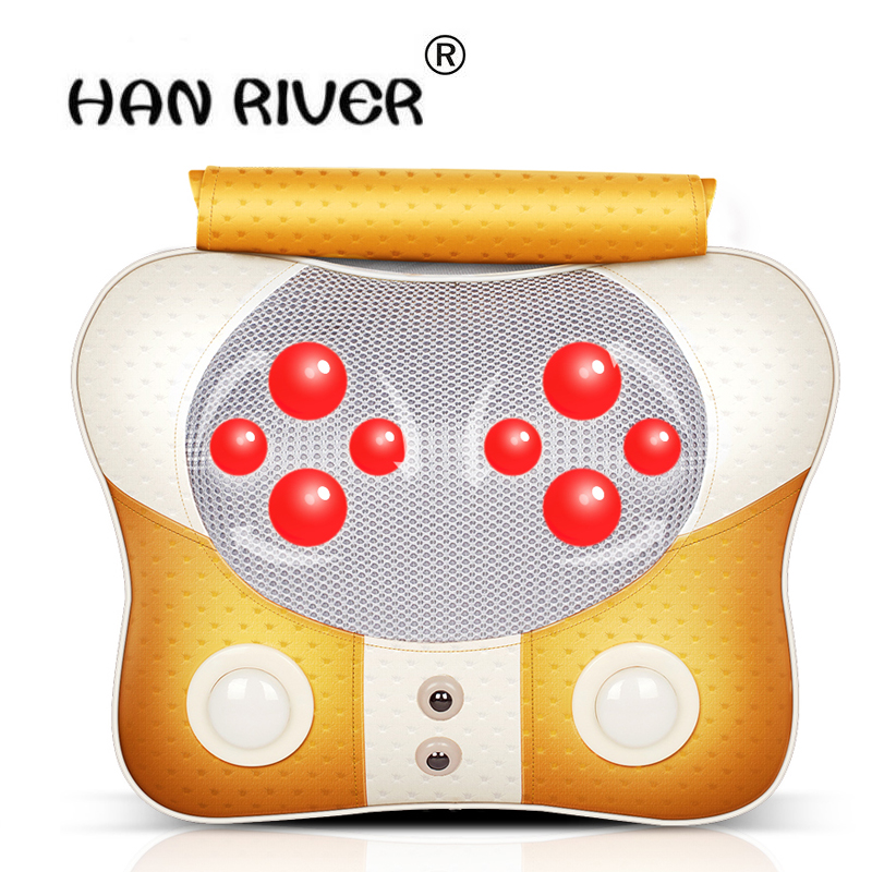 все цены на Massage Pillow Cervical Vertebra Massager Neck Waist Back Shoulder Massage Device Household Health Care Instrument