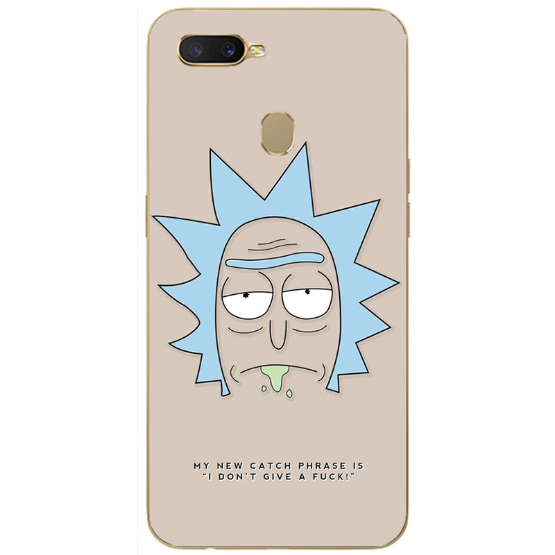 Fashion Rick and Morty Cartoon soft silicone Painting Case For Oppo Realme C1 C2 U1 1 2 3 Pro X Lite Mobile Phone Printed Cover