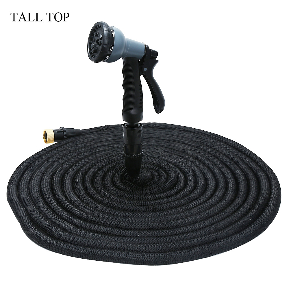 8 Modes 25ft 100ft Garden Hose Expandable Magic Watering Hoses Garden Water Pipe Hose With Spray