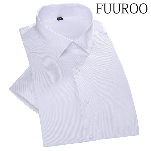 Men Shirt 2016 Summer Twill Men Shirts Short Sleeve Solid Color Men Wedding Formal Business Shirts CBJ-T0055