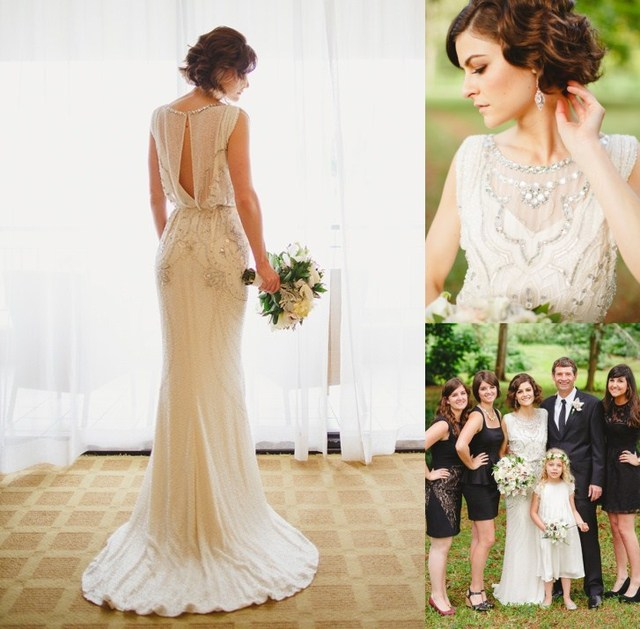 Vintage Jenny Packham Wedding Dresses 2017 Luxury Crystals Beading ...