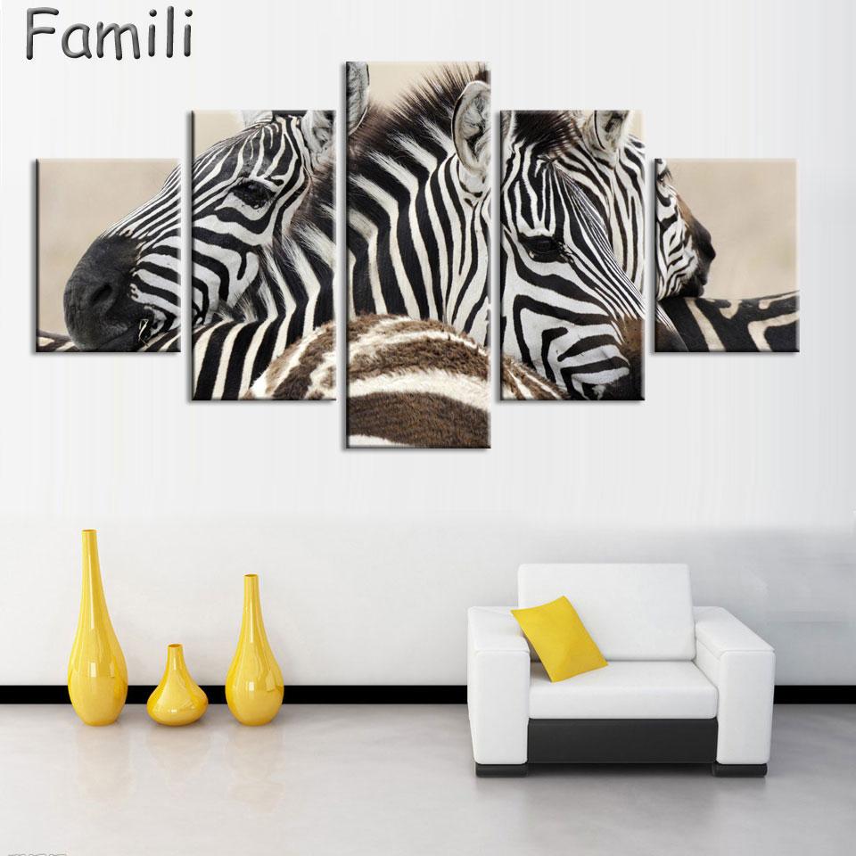 Wall Paintings For Living Room Popular Zebra Wall Painting Buy Cheap Zebra Wall Painting Lots