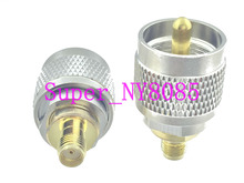 купить 1pce UHF male PL259 PL-259 plug to SMA female jack RF adapter connector онлайн