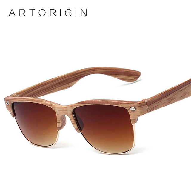 Aliexpress.com : Buy ARTORIGIN Half Frame Wood Sunglasses ...
